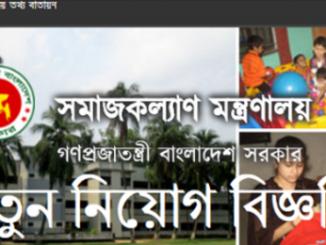 Social Welfare Ministry Job Circular Online