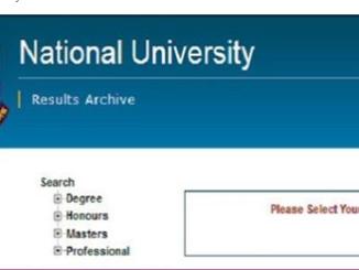 National University Degree 3rd year Result Online