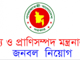 Fisheries and Livestock Ministry Job Circular Online