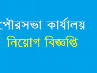 Municipality Office Job Circular Online