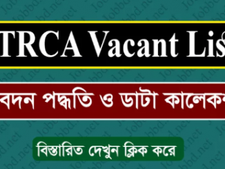 NTRCA Teacher Registration Vacant List Online