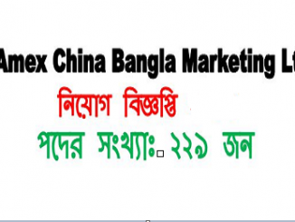 Amex China Bangla Marketing Ltd Job Circular Online