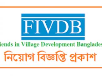 Friends In Village Development Bangladesh FIVDB NGO Job Circular Online