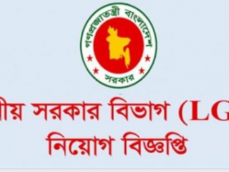 Local Government Division LGD Job Circular Online