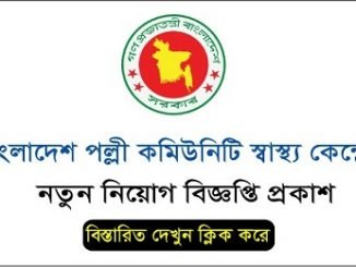 Bangladesh Community Health Center Job Circular Online