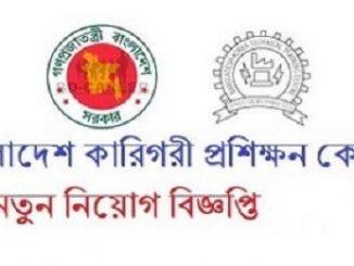 Bangladesh Technical Training Center TTC Job Circular Online