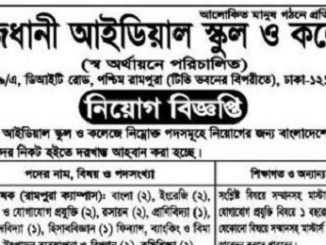 Rajdhani Ideal School and College Job Circular Online