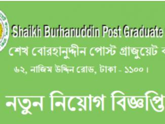 Shaikh Burhanuddin Post Graduate College Job Circular Online