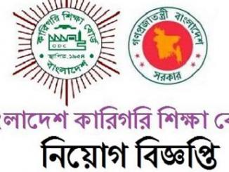 Bangladesh Technical Education Board BTEB Job Circular Online