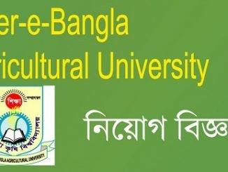 Sher-e-Bangla Agricultural University SAU Job Circular Online