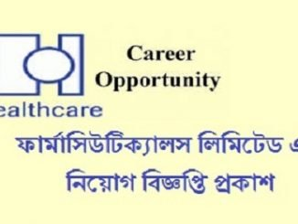 Healthcare Pharmaceuticals Job Circular Online