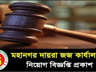 Metropolitan Sessions Judge Court Job Circular Online