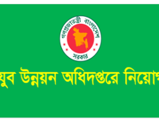 Department of Youth Development Job Circular Online